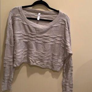 Super soft cropped bikini cover sweater